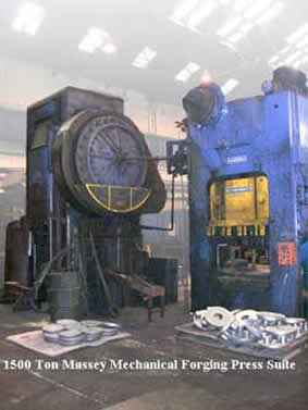 1500 Ton Massey Mechanical Forging Press Suite