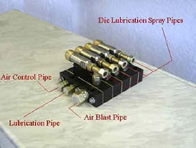 New Die Lubrication Systems for hammers.